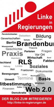 Flyer für Linke in Regierungen zum Druck gegeben