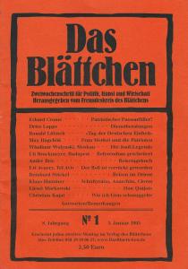 """""""Dienstberatungen"""" in """"Das Blättchen"""" 1/2005"""
