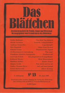 """""""Lagerkämpfe"""" in """"Das Blättchen 13/2005"""""""