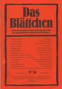 """""""Das Blättchen"""" 14/2005"""
