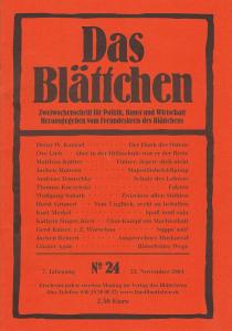 """""""Schule des Lehrers"""" in """"Das Blättchen"""" 24/2004"""
