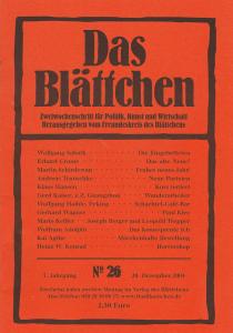 """""""Neue Parteien"""" in """"Das Blättchen"""" 26/2004"""