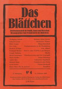 """""""Bürgerhaushalt"""" in """"Das Blättchen"""" 4/2005"""