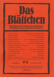 """""""Hoffnung"""" in """"Das Blättchen"""" 5/2005"""
