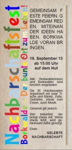 Nachbarschaftsfest 2015 in Borkwalde
