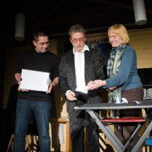 v.r.n.l: Ulrike Schochow, Magier André Kursch, Andreas Trunschke (Foto: Peter Krüger)