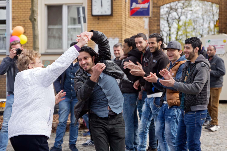Gelungenen Integration auf dem Frühlingsfest in Brück