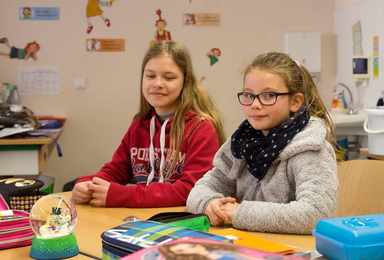Gesund sitzen an der Hans-Grade-Grundschule in Borkheide