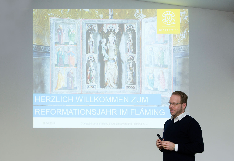Daniel Sebastian Menzel, Geschäftsführer des Tourismusverband Fläming e.V.