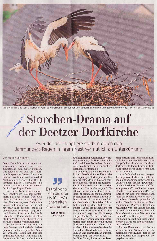 Foto in der MAZ, Ausgabe für Brandenburg