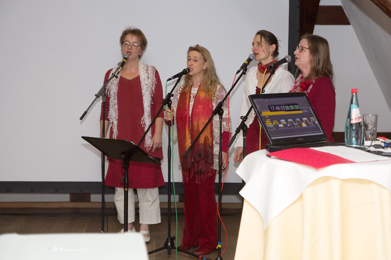 Das Vokalensemble Donna Liedchen umrahmte die Veranstaltung