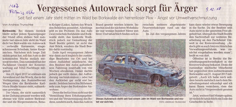 Wrackauto Borkwalde MAZ