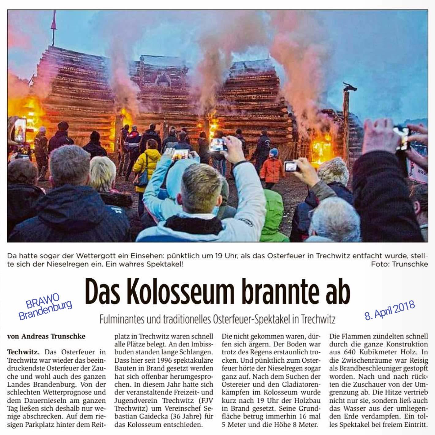 Osterfeuer 2018 in Trechwitz